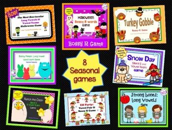 Holidays & Seasonal Word Work Bundle: 8 Activities