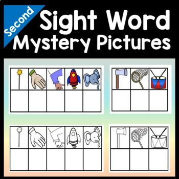 Second Grade Literacy Centers with Mystery Pictures {46 words!}