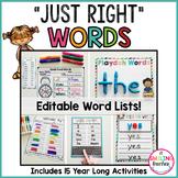 Word Work Differentiation