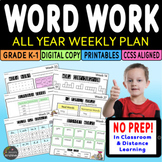 WEEKLY WORD WORK ACTIVITIES FOR THE WHOLE YEAR
