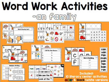 Word Work: -AN Word Family