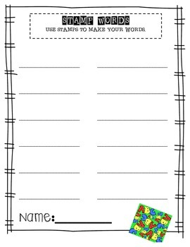 Word Work Activities - 50 Easy Word Work Printables - UPDATED!