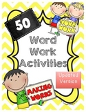 Word Work Activities - 50 Easy Word Work Printables - UPDATED!