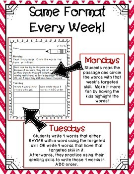 2nd Grade Word Work Activities (weekly) - FREE SAMPLE