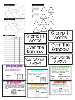 Word Work Activities:  A Classroom System