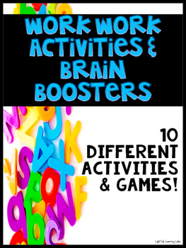 Word Work Activities & Brain Boosters for Upper Elementary