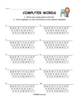 Word Work Spelling Activities - Bundle #1 (11 activities)