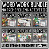 Digital Spelling Activities Any List of Word Work Centers