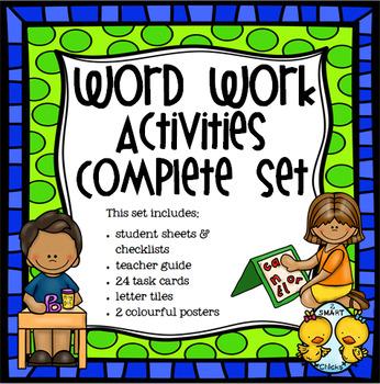 Word Work Activities Complete Set