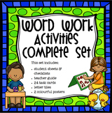 Word Work Activities Complete Set