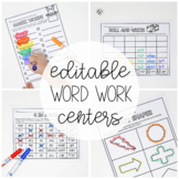Word Work Activities - EDITABLE