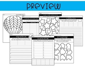 Word Work Activities For Any Spelling List