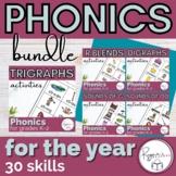 Christmas Phonics Word Work Year Long Bundle