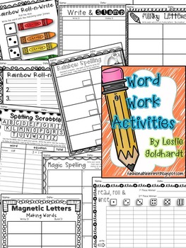 Word Work Activities Recoding Sheets