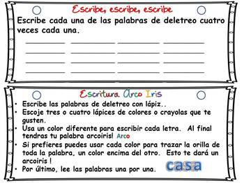 Word Work Activities - Trabaja con Palabras