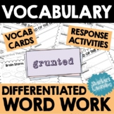 Word Work Activities - Word of the Day  - Vocabulary Focus