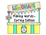 Word Work Activities and Worksheets for Making Words