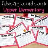 Word Work Activities for February