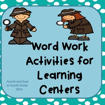 Word Work Activities for Learning Centers