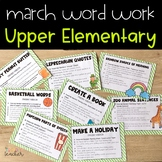 Word Work Activities for March