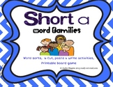 Word Work Activities for Short A