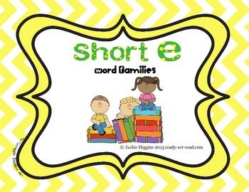 Word Work Activities for Short E