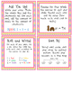 """Word Work Task Cards and Recording Sheets for the """"Number"""