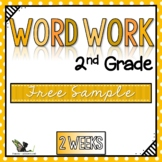 Second Grade Word Work Whole Year - Free Sample