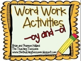Word Work Activities -oy and oi