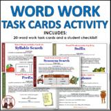 Back to School Word Work Activities