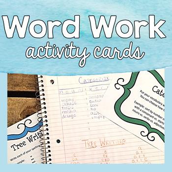Word Work Activities - Task Cards & Choice Menus for Big Kids