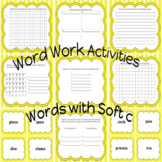 Word Work Activity Center for Words with Soft c