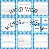 Word Work Activity Center for Words with Soft g Phonological Awareness