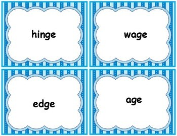 Word Work Center with Worksheets for Words with Soft g Phonics Pack