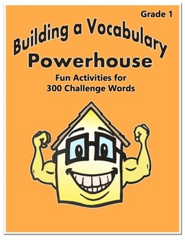 Word Work Activity - Challenge Words Grade 1 Week 1-2