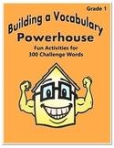 Word Work Activity - Challenge Words Grade 1 Week 1-2