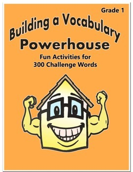Word Work Activity - Challenge Words Grade 1 Week 19 - 24