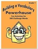 Word Work Activity - Challenge Words Grade 1 Week 19 - 24