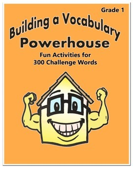 Word Work Activity - Challenge Words Grade 1 Week 5 - 6