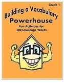 Word Work Activity - Challenge Words Grade 1 Week 5 - 6