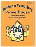 Word Work Activity - Challenge Words Grade 1 Week 7 - 12
