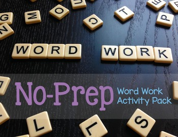 Word Work Activity Pack [Free Yearly Updates]