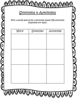 Word Work Activity Package