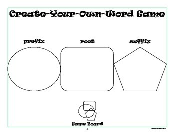 Word Work Activity: Prefixes, Suffixes, and Roots Game