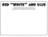 Word Work Activity, Red Write and Blue, vowels and consonants