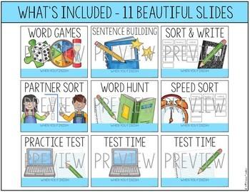Word Work Activity Reminder Slides - A Classroom Management Tool