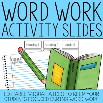 Word Work Activity Reminder Slides - A Classroom Management Tool