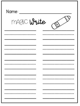 Word Work Activity Sheets