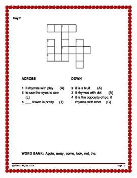 Word Work Activity - Sight Words Week 1-2