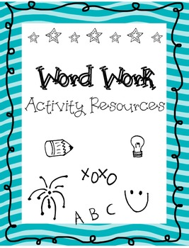 Word Work Activity Task Sheets- Print Ready- no additional resources! (30pack)